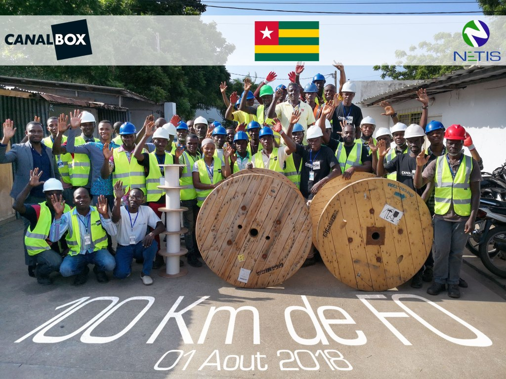 NETIS Group - FTTH Deployment - 100km pulled in Togo