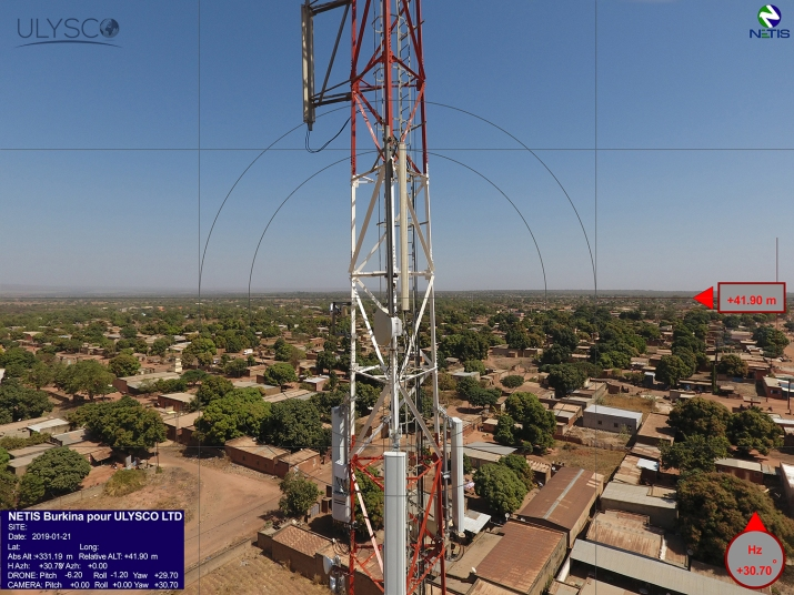 DRONE by NETIS - BURKINA FASO Operation - Tower DEFAULT - February 2109